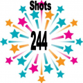244 shots