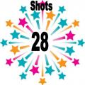 28 shots