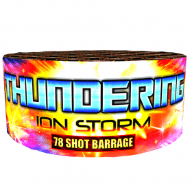 Thundering Ion Storm By Brightstar available from Cardiff Fireworks