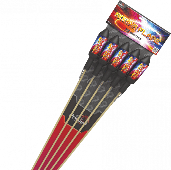 Solar Flare Rockets From Primed Pyrotechnics available from cardiff fireworks