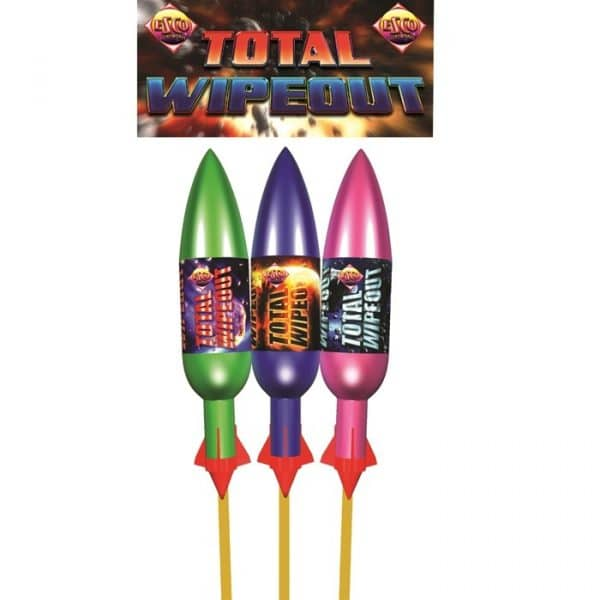 Total Wipeout Rockets From Cardiff Fireworks