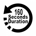 160 seconds