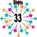 33 shots