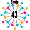 43 shots