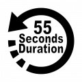 55 seconds