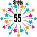 55 shots