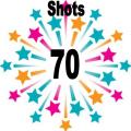 70 shots