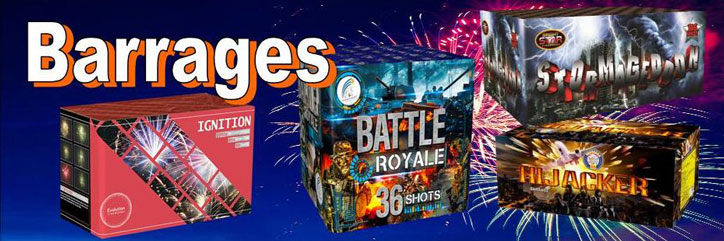 Barrage fireworks available all year around from Cardiff Fireworks