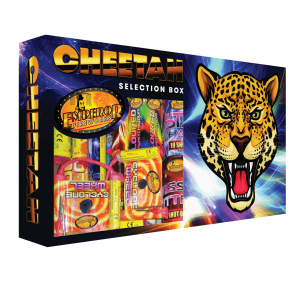 Cheetah Selection Box Available From www.fireworks-cardiff.co.uk