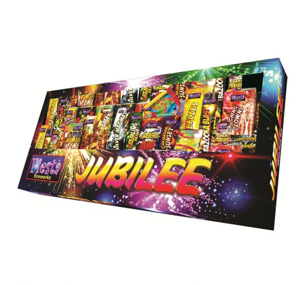 Jubilee Selection Box Available From www.fireworks-cardiff.co.uk